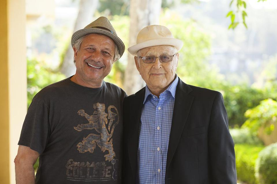 Kevin Bright (left) and Norman Lear in Los Angeles.